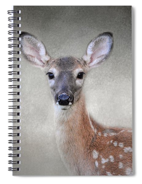Little Miss Lashes - White Tailed Deer - Fawn Spiral Notebook