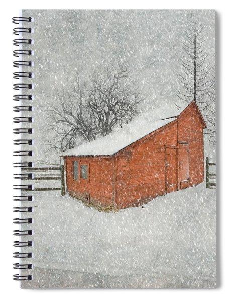 Little Red Barn Spiral Notebook