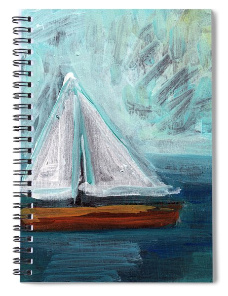Little Sailboat- Expressionist Painting Spiral Notebook