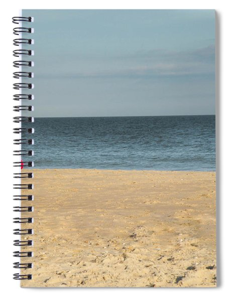 Little Santa On The Beach Spiral Notebook