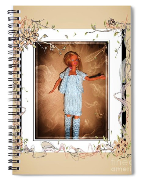 Little Sister Wants To Go Too - Fashion Doll - Girls - Collection Spiral Notebook