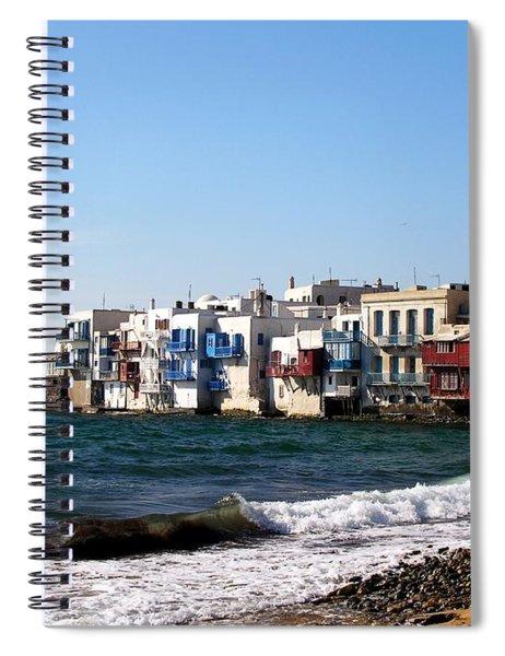 Spiral Notebook featuring the photograph Little Venice by Mel Steinhauer