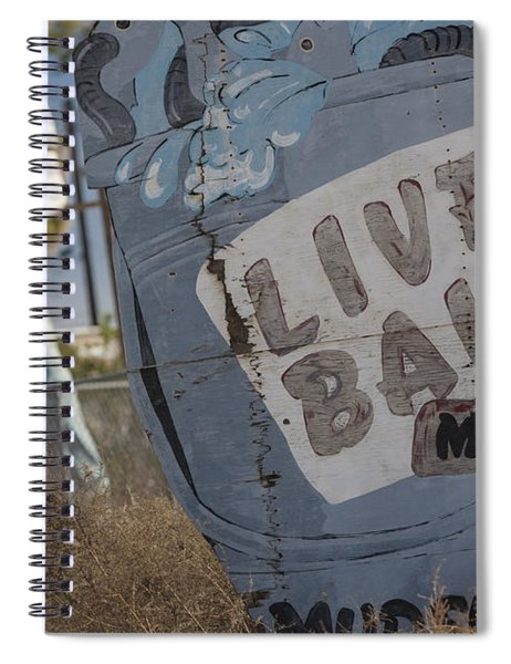 Live Bait And The Man Spiral Notebook