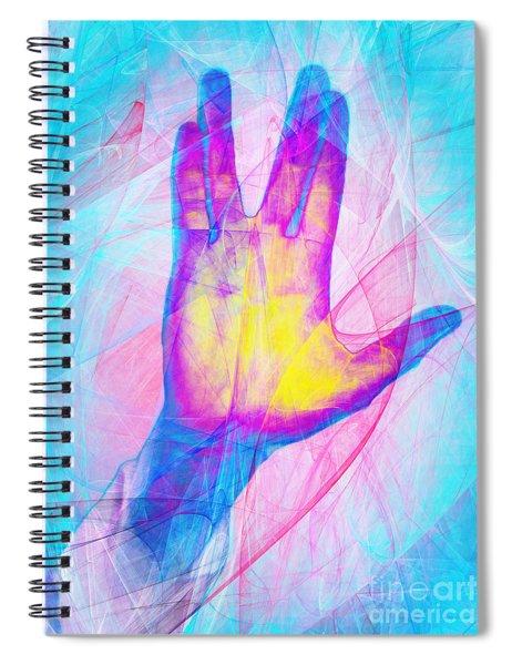 Live Long And Prosper 20150302v1 Spiral Notebook