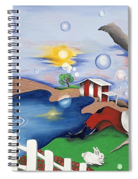Live Out The Bubble Spiral Notebook