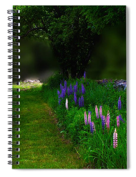 Living In A Lupine Moment Spiral Notebook