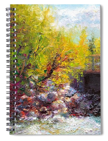Living Water - Bridge Over Little Su River Spiral Notebook
