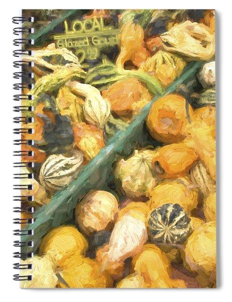 Local Glazed Gourds Painterly Effect Spiral Notebook