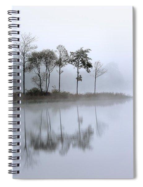 Loch Ard Trees In The Mist Spiral Notebook