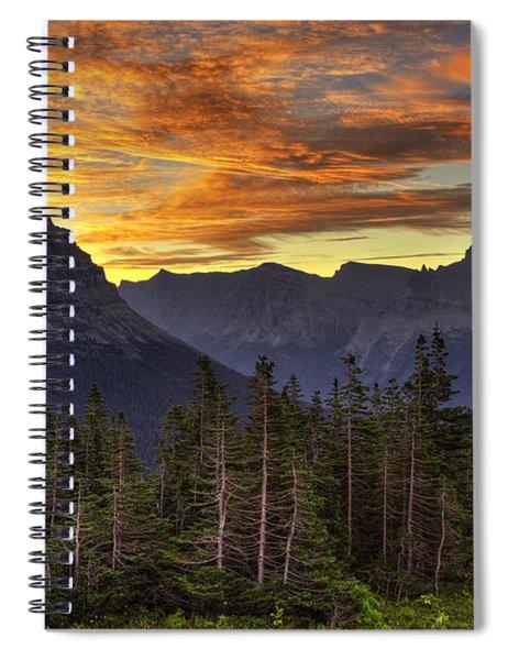 Logan Pass Sunrise Spiral Notebook