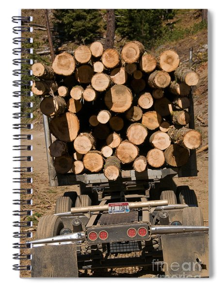 Logging Truck Spiral Notebook