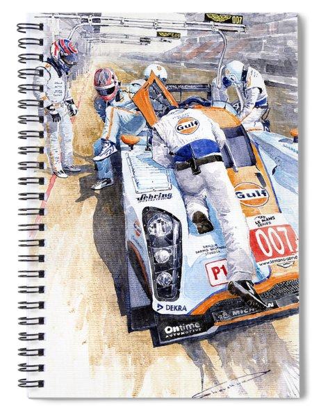 Lola Aston Martin Lmp1 Gulf Team 2009 Spiral Notebook