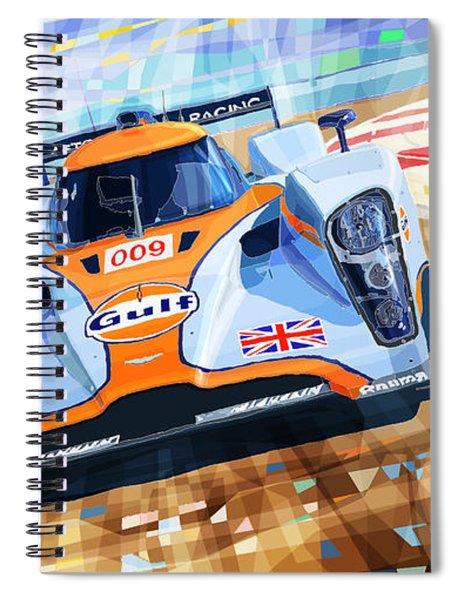 Lola Aston Martin Lmp1 Racing Le Mans Series 2009 Spiral Notebook