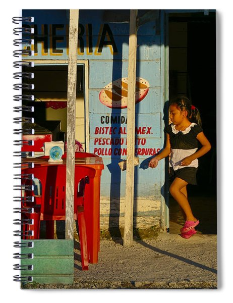Spiral Notebook featuring the photograph Loncheria by Skip Hunt