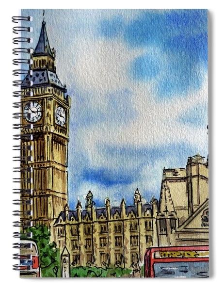 London England Big Ben Spiral Notebook