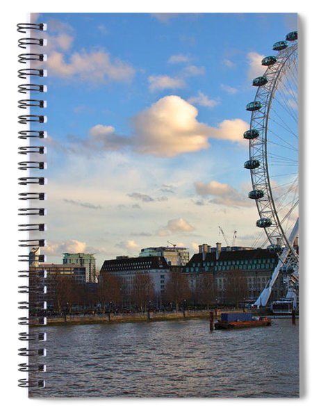 London Eye And Shell Building Spiral Notebook