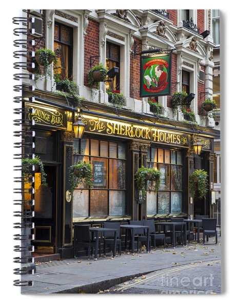 Spiral Notebook featuring the photograph London Pub by Brian Jannsen