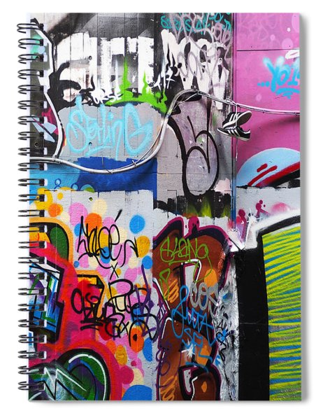 London Skate Park Abstract Spiral Notebook