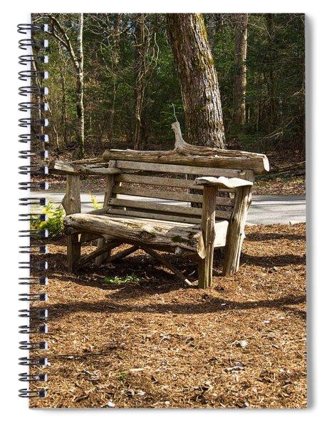 Lone Bench Waiting Spiral Notebook