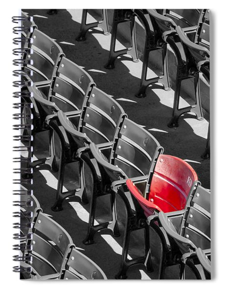 Lone Red Number 21 Fenway Park Bw Spiral Notebook