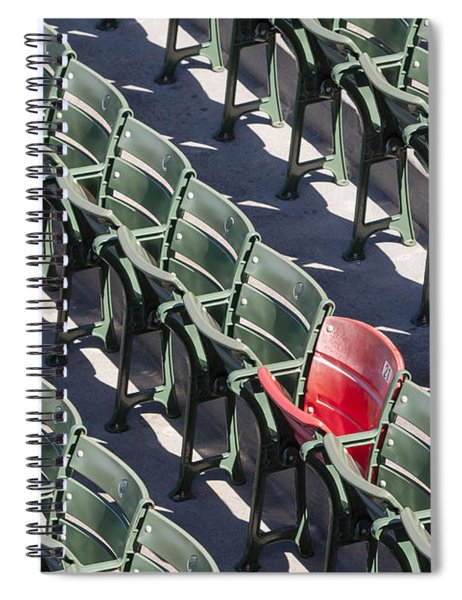 Lone Red Number 21 Fenway Park Spiral Notebook