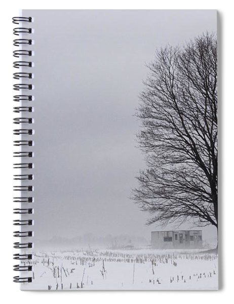 Lone Tree In The Fog Spiral Notebook