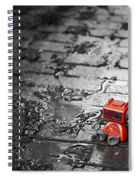Lonely Little Robot Spiral Notebook