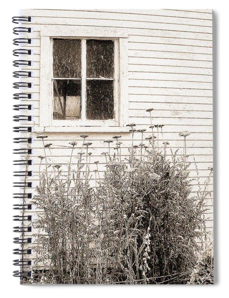 Lonely Winter Flowers Spiral Notebook