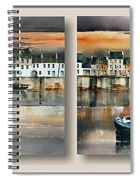 Long Walk Diptych  Galway Spiral Notebook
