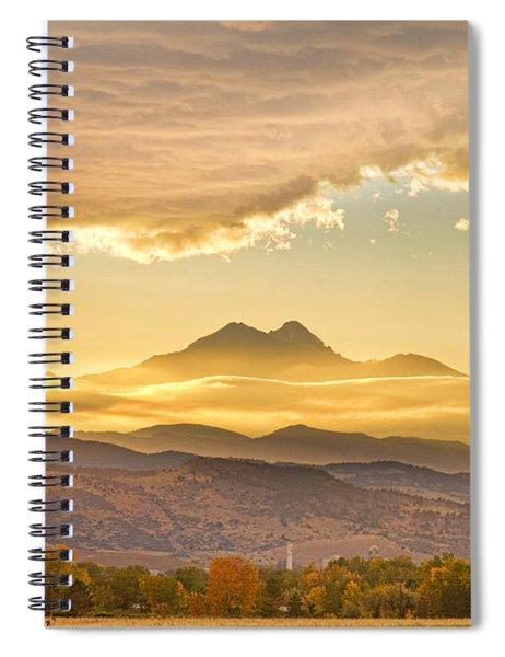 Longs Peak Autumn Sunset Spiral Notebook