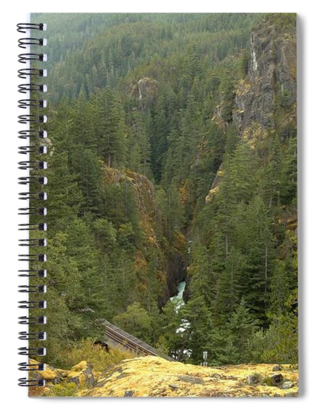 Looking Down On The Cheakamus River Spiral Notebook