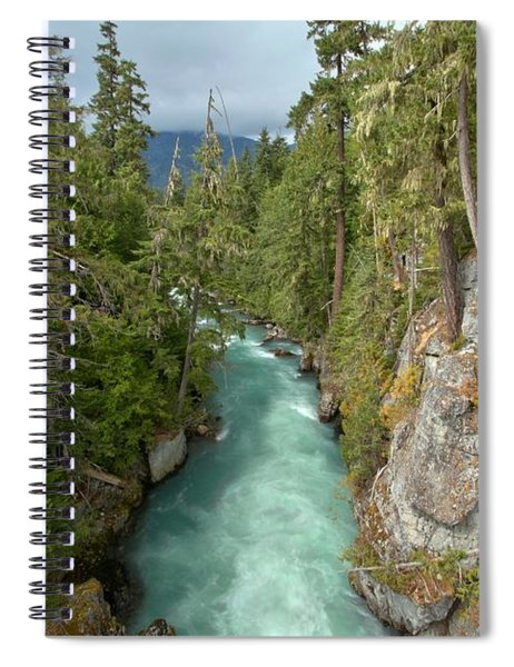 Looking Down The Cheakaus River Gorge Spiral Notebook