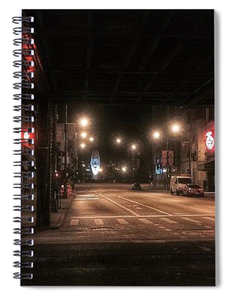 Looking East From Wabash Spiral Notebook