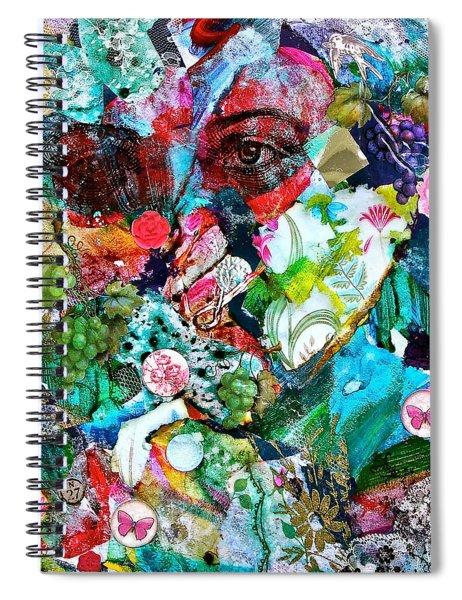 Looking Through Spiral Notebook