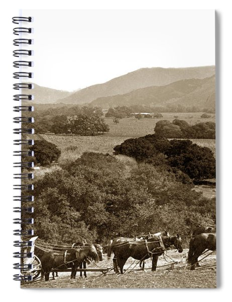Looking Up The Carmel Valley California Circa 1880 Spiral Notebook