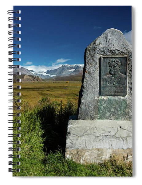 Lookout View Of Glacier And Mountains Spiral Notebook