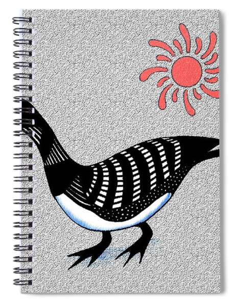 Loon And Sun Spiral Notebook