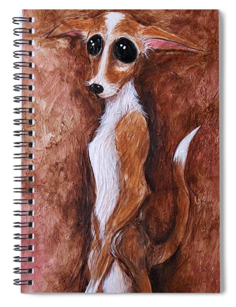 Loretta Chihuahua Big Eyes  Spiral Notebook