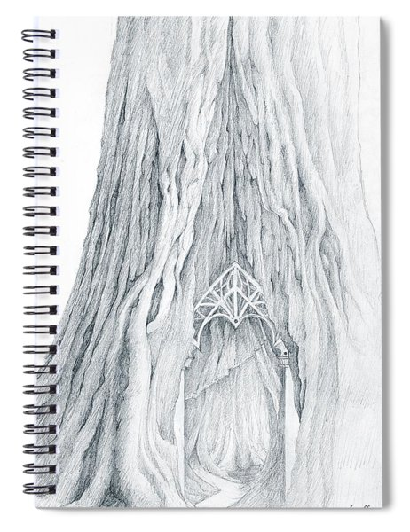 Lothlorien Mallorn Tree Spiral Notebook