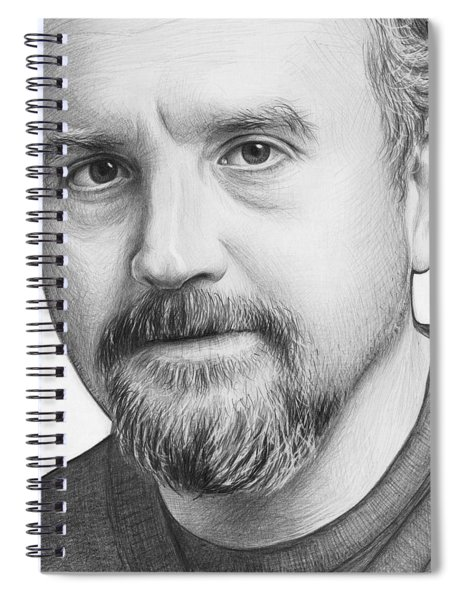 Louis Ck Portrait Spiral Notebook by Olga Shvartsur