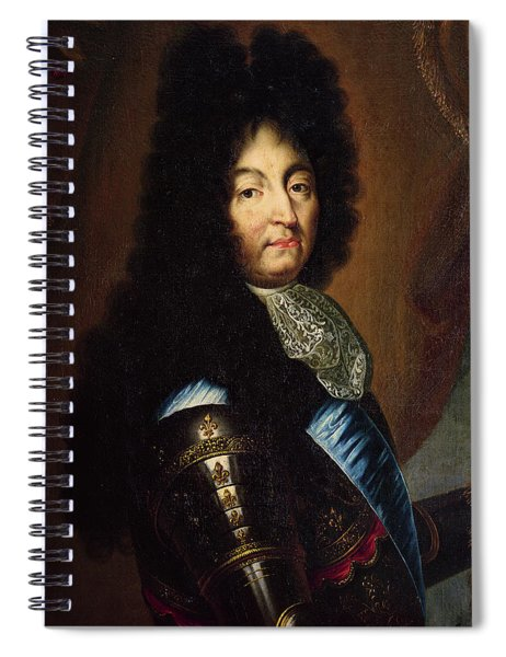 Louis Xiv 1638-1715 Oil On Canvas Spiral Notebook