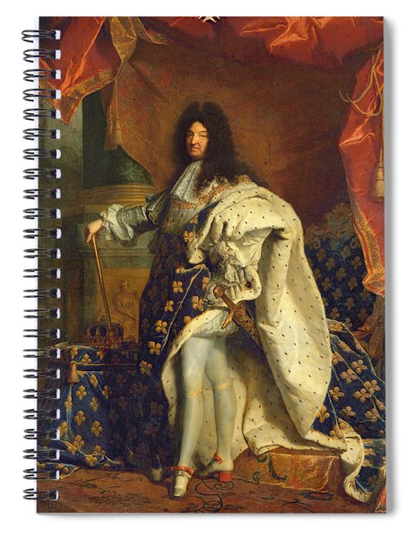 Louis Xiv In Royal Costume, 1701 Oil On Canvas Spiral Notebook