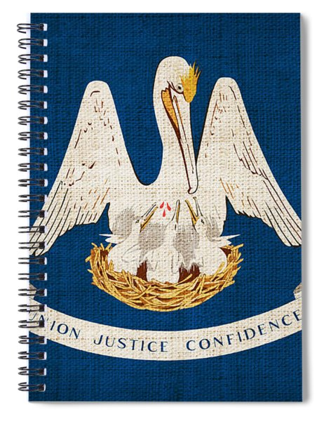 Louisiana State Flag Spiral Notebook