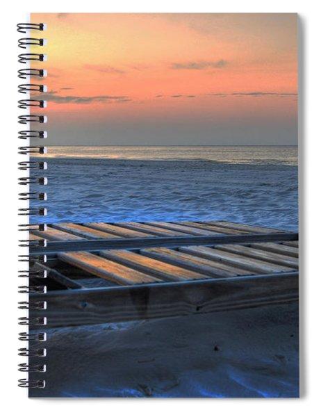 Lounge Closeup On Beach ... Spiral Notebook