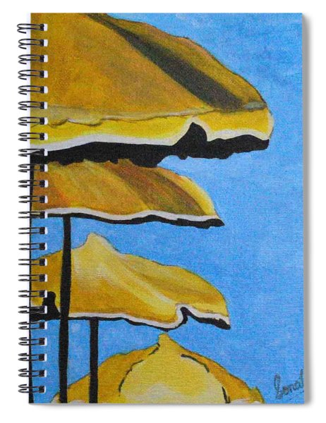 Lounging Under The Umbrellas On A Bright Sunny Day Spiral Notebook