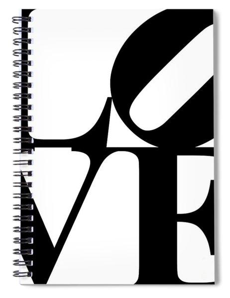 Love 20130707 Black White Spiral Notebook