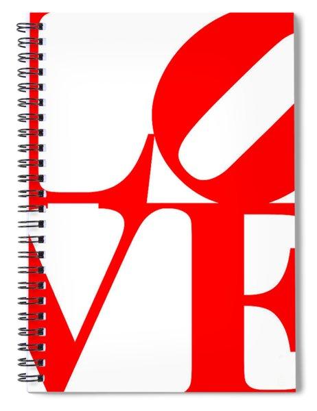 Love 20130707 Red White Spiral Notebook