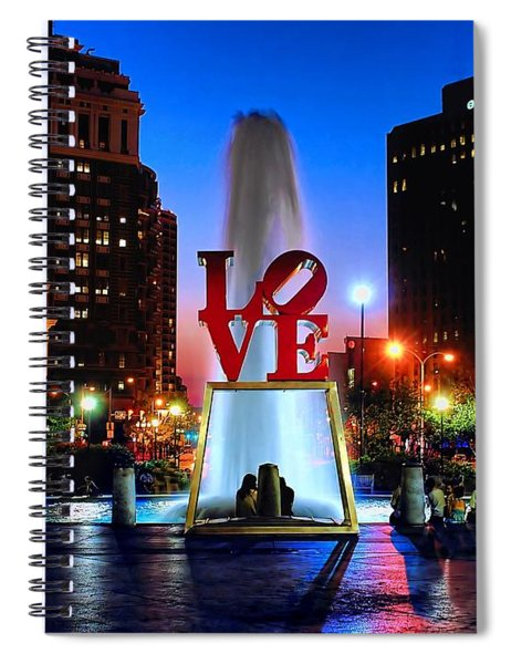 Love At Night Spiral Notebook
