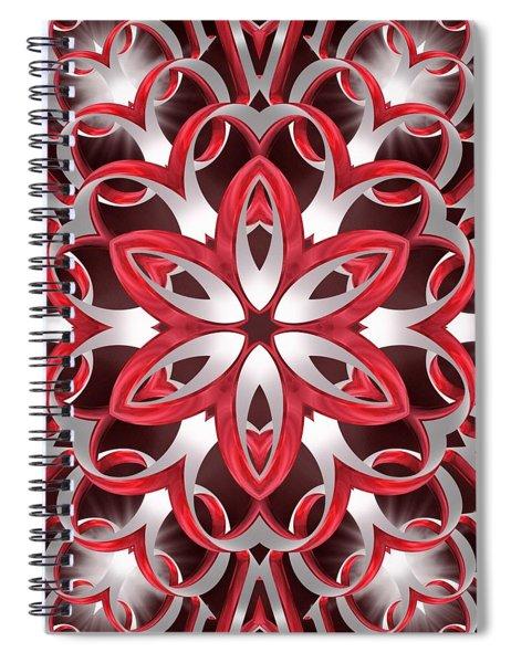 Spiral Notebook featuring the digital art Love Blossoms by Derek Gedney