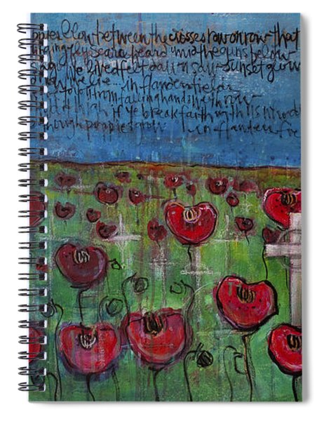 Love For Flanders Fields Poppies Spiral Notebook